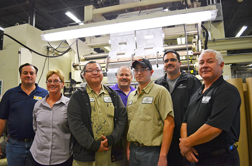 Apprentices and United Steelworkers leaders at Hood Packaging. Photo courtesy St. Paul Union Advocate